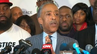 Rev. Al Sharpton reacts to Michael Brown decision