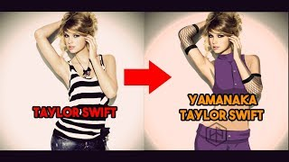Taylor Swift X Yamanaka Ino [Foto Manipulasi Kartun Dengan Photoshop]