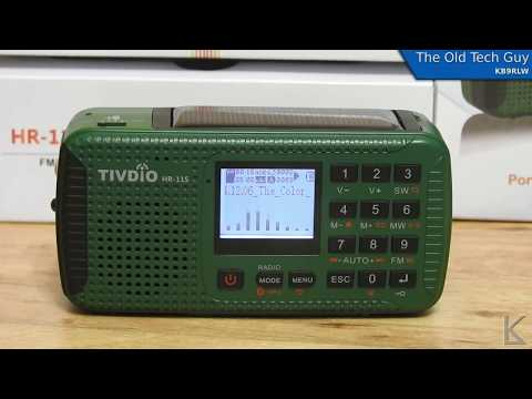 Ham Radio - A look at the TIVDIO HR-11S camping / emergency power radio