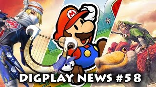 DIGPLAYNEWS #58 - Jogo da Sheik, Zelda Skyward Sword HD, Paper Mario Remaster e Novo Mario