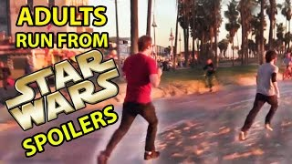 Star Wars Fans Run from Fake Spoilers PRANK