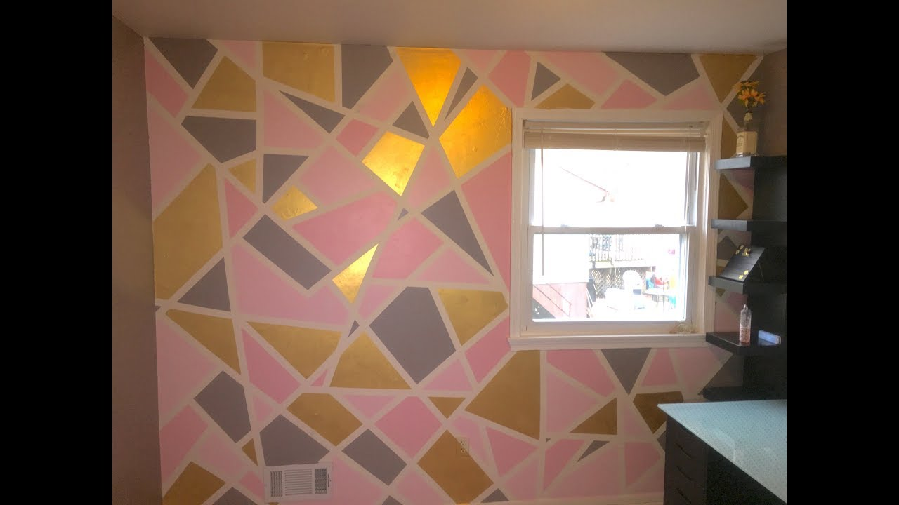 DIY Geometric Painted Wall - YouTube
