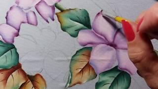 Passarinhos (Pardais) – Flores do Campo – Parte 2 – Pintura em tecido