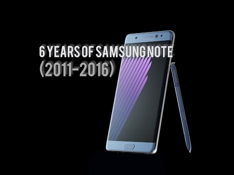 6 YEARS OF SAMSUNG NOTE SERIES  2011-2016