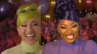 """Cardi B & Megan Thee Stallion  Live Discussing Music Video  For  """"WAP"""" & Female Rappers"""
