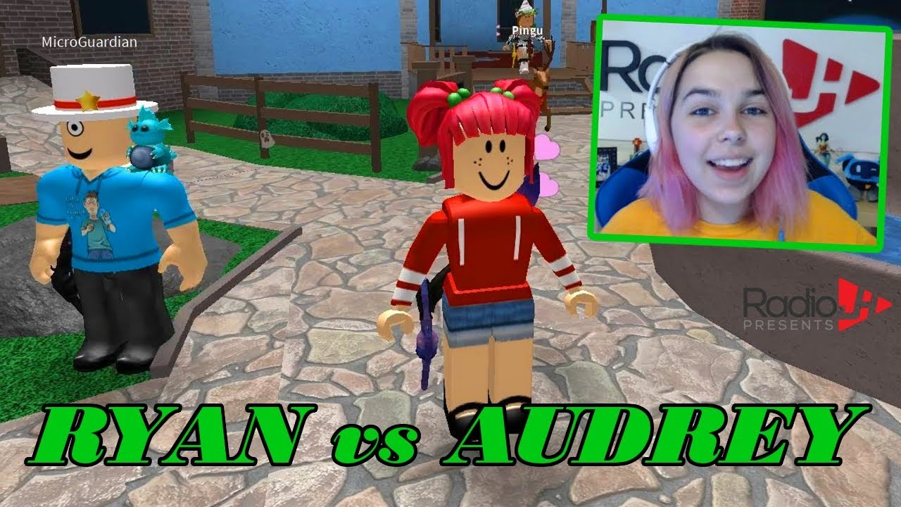 Roblox Murder Mystery 2 Ryan Vs Audrey Youtube