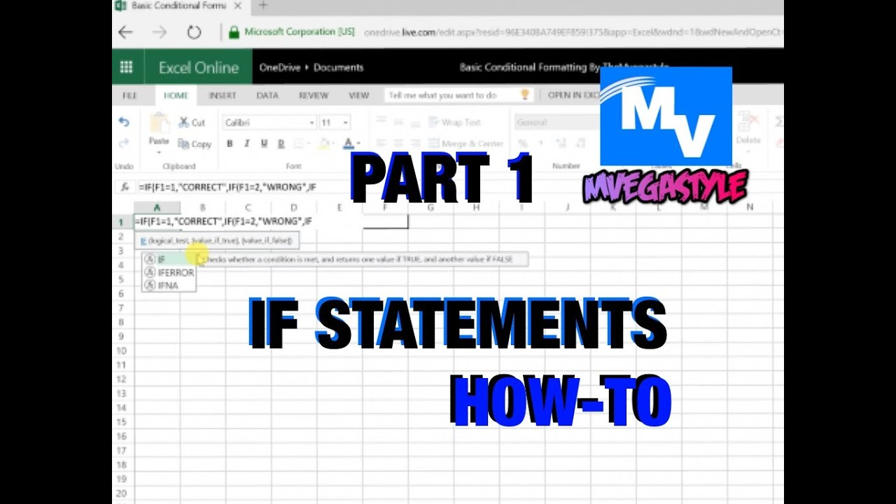How-to use IF statements in Excel - Part 1 - YouTube