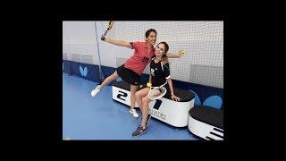Уроки настольного тенниса. Урок 5. Накат слева. Сабитова - Зарыпова. Newton Arena.