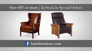Batte Furniture Fall Leather Sale