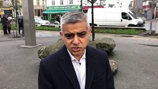 London Mayor Sadiq Khan urges more knife control