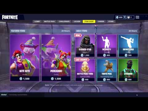 * CLOAKED STAR * New Skin - Daily Item Shop September 24th ...