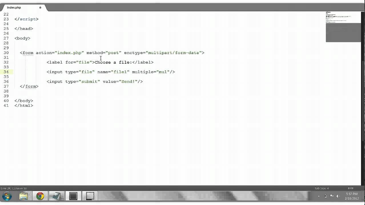HTML Tutorial #10: Multiple File Upload Form