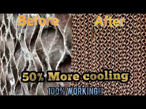How to Clean Honeycomb pad of Cooler , Desert cooler annual maintenance( Symphony, voltas, Bluestar)