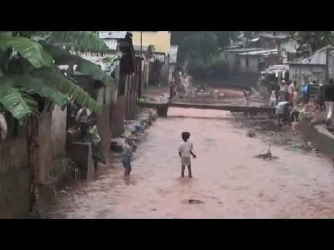 Massive Flooding Kroo Bay, Sierra Leone