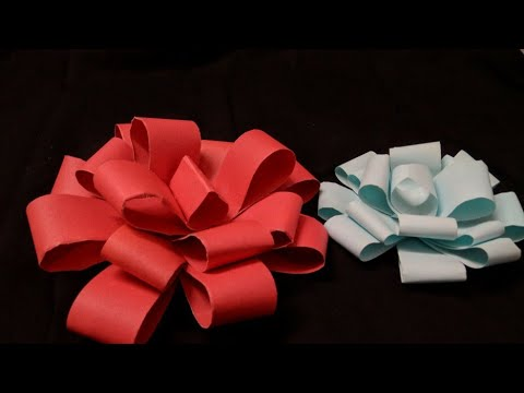 How to make - Easy paper bow - step by step || Artby shivi ||