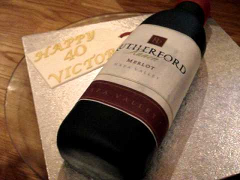 Bottle Shaped Birthday Cake
