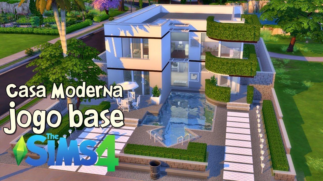 Jogo base construindo uma casa moderna the sims 4 speed for Casa moderna sims 2
