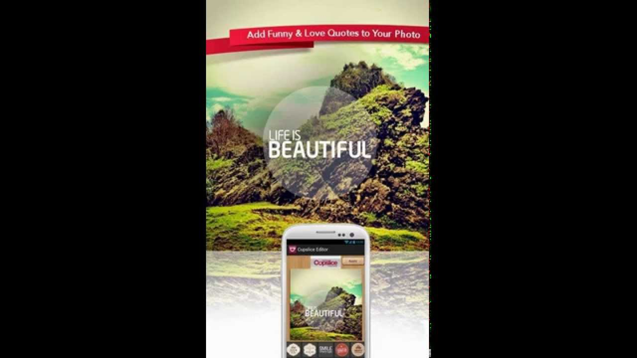 Photo Editor With Love Quotes Cupslice Photo Editor Apk Download  Youtube