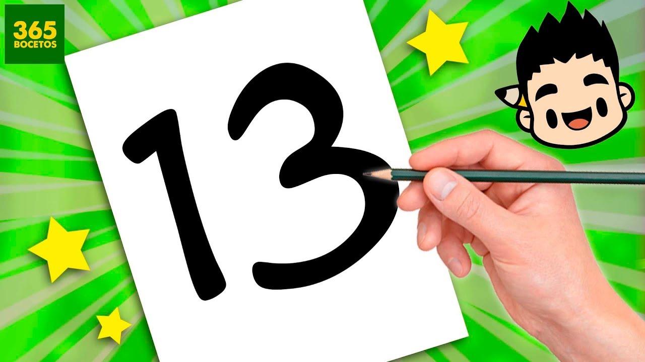 Colorear Numero 13