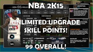 *CHEATS* NBA 2K15(WORKS FOR 2K16!) PC How To Get UNLIMITED MyCareer Upgrade Skill Points Tutorial!