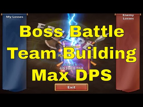 Castle Clash Boss Battle Team Building Max DPS Gameplay