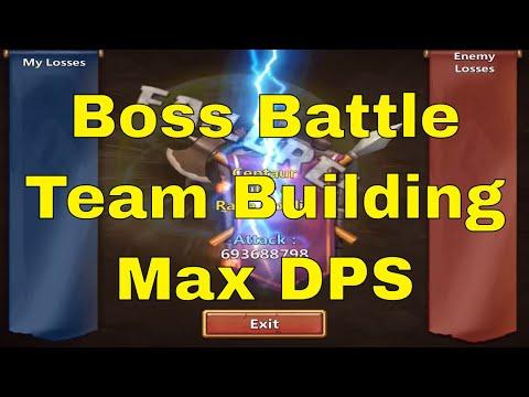 Castle Clash Boss Battle Team Building Max DPS Gameplay