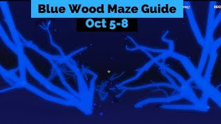 Blue Wood Maze Guide Oct 5-8 (Lumber Tycoon 2) Roblox
