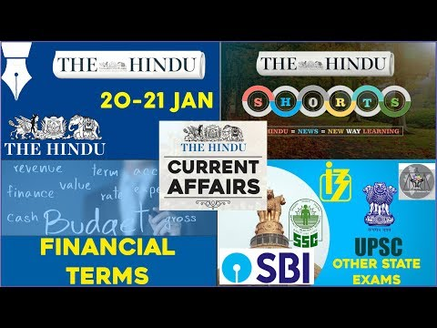 CURRENT AFFAIRS | THE HINDU | 20th - 21st January 2018 | SBI CLERK, UPSC,IBPS, SSC,CDS,IB,CLAT