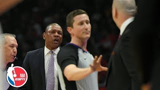 Doc Rivers and Jim Boylen react to being ejected during Bulls vs. Clippers   NBA on ESPN