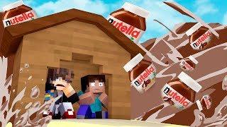 Minecraft: DESAFIO DA BASE 100% SEGURA CONTRA TSUNAMI DE NUTELLA  ‹ JUAUM ›