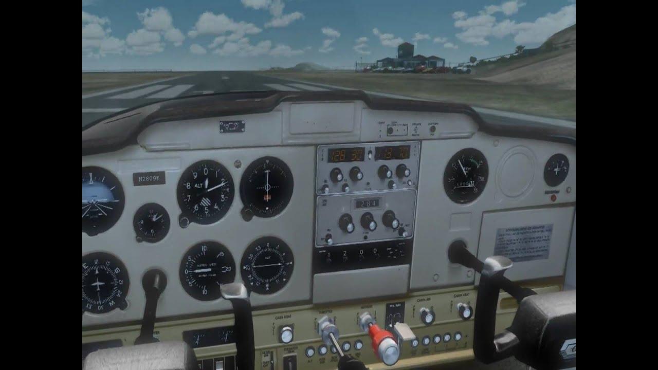 [HD] FSX - Fly Around Saba Airport - Carenado C152 II - TrackIR - Ezdok  WalkCamera