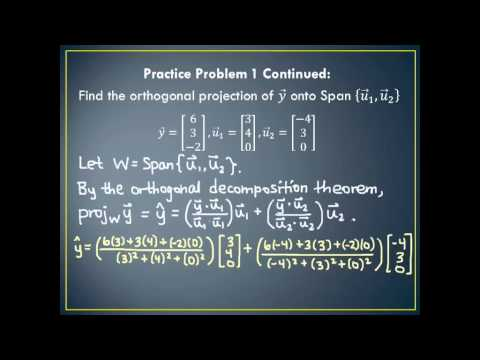 linear algebra projection