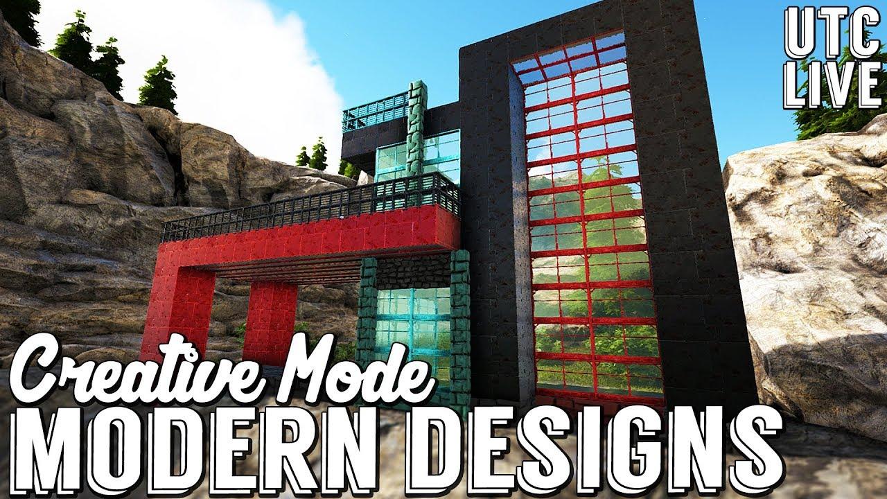 Ark creative building mode modern house building designs ark design ideas