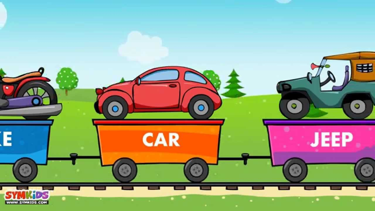 Learn Vehicle Train - learning transport vehicles for kids - YouTube