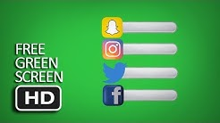 Free Green Screen - Compilation Logo and Bar Facebook, Instagram, Twitter, Snapchat