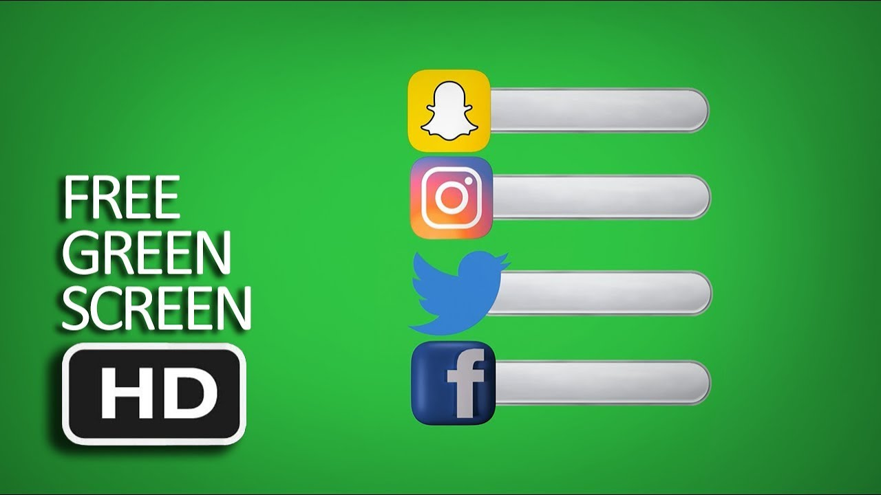 free green screen compilation logo and bar facebook instagram twitter snapchat youtube. Black Bedroom Furniture Sets. Home Design Ideas