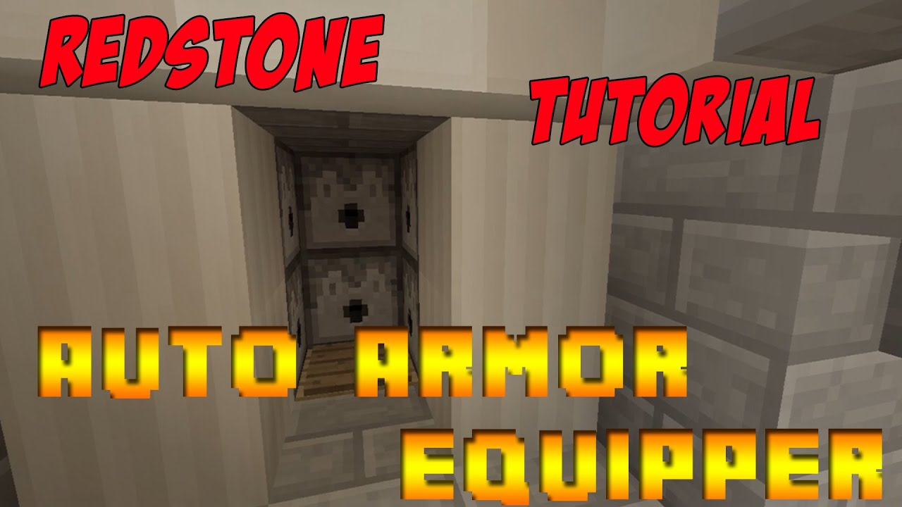 Minecraft redstone tutorial automatic armor equipper xbox minecraft redstone tutorial automatic armor equipper xbox playstation pc youtube baditri Images