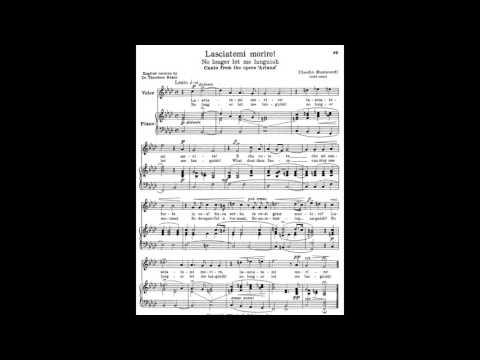 15 Lasciatemi morire 24 Italian Songs and Arias piano melody and accompaniment