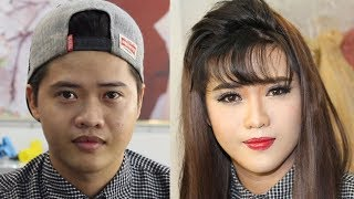 Makeup tutorial boy to girl for night party / Makeup ✔