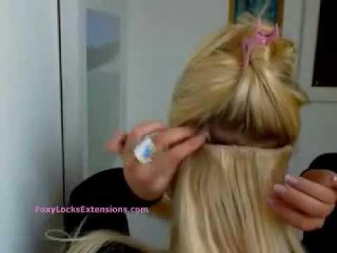 волосы на заколках ! инструкция по крепежу