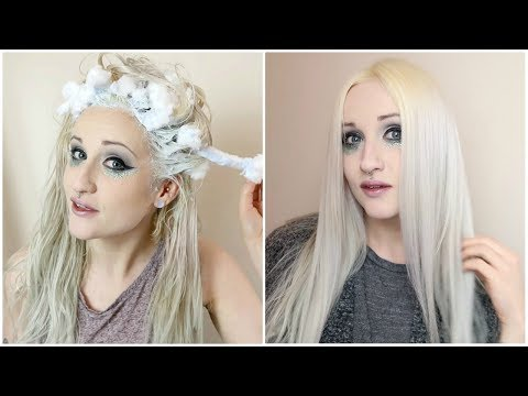 Bleaching Hair With Cotton Wool.