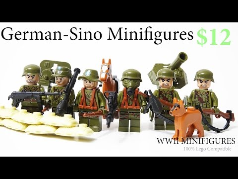 Lego WW2 Chinese German Army Soldiers Brickarms  Toy Guns - Review Великая отечественная война
