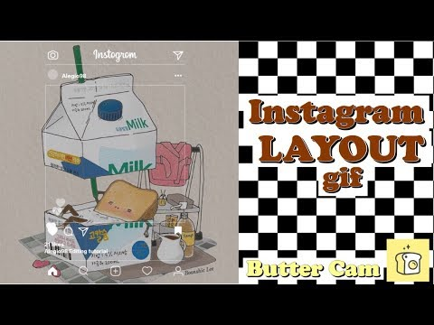Instagram Layout Gif // Buttercam (Tutorial) [Sub.Eng]