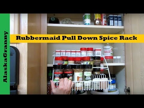 rubbermaid pull down spice rack youtube rh youtube com Wall Mounted Wire Spice Racks Spice Rack Construction