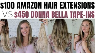 Hair Extensions Review: Cheap Amazon vs Donna Bella Hair