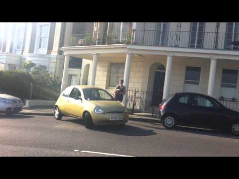 Girl fails at reverse parking