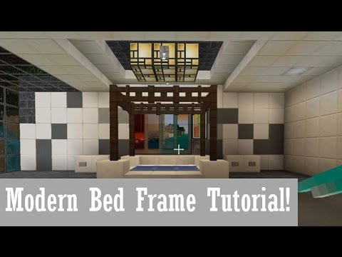 minecraft modern bedroom minecraft tutorial how to make modern bed frame 12401