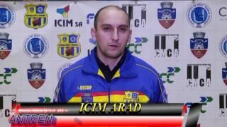 ICIM ARAD Interviu cu ANTRENORUL  PRINCIPAL Bogdan Bulj
