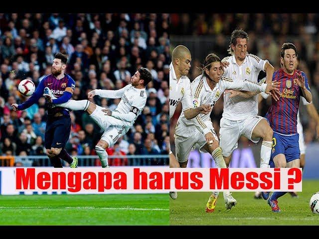 Permainan kasar Real Madrid terhadap Lionel Messi - Barcelona vs Real Madrid