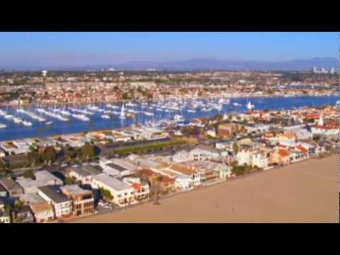 Newport Beach CA Aerial Tour